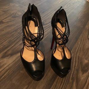 Christian Louboutin Black Heels EUR 38.5 : US 7.5